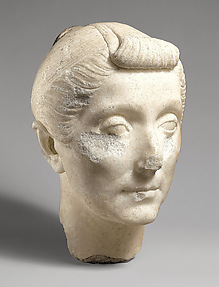 Portrait head of a matron in the style of Livia